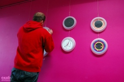 vincent arranges the clocks